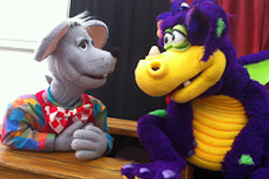 Theo The Mouse and Snot The Dragon